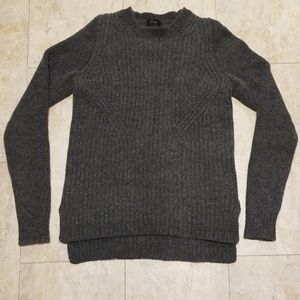 J Crew 100% Wool Square Neck Knit Sweater Mens